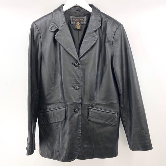 717512342 Croft & Barrow Vintage Leather Jacket Lambskin M